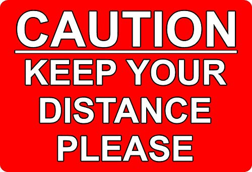 DRIVING SCHOOL/INSTRUCTOR KEEP YOUR DISTANCE STICKER DECAL - Self adhesive vinyl 150mm x 100mm from KPCM Display