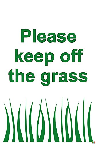 Please keep off the grass sign - 1.2mm rigid plastic 300mm x 200mm from KPCM Display