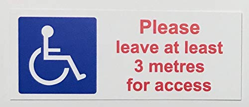 SELF ADHESIVE Disabled access Mobility Blue Badge car sticker decal campervan from KPCM Display