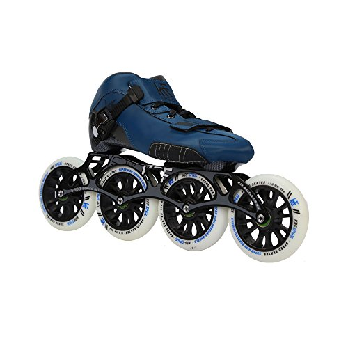 KRF The New Urban Concept Kids' Speed 616 Inline Skates, Blue, Size UK 13-EU 32 from KRF The New Urban Concept