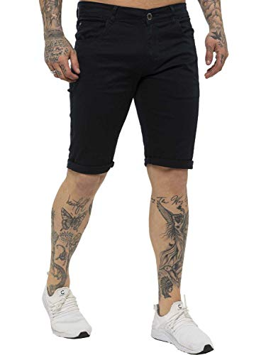 Kruze Mens Chino Shorts Branded Designer Jeans Casual Blue Black Red Tan, BNWT 40 Black from Kruze