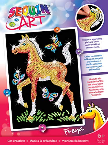KSG Arts and Crafts Junior Sequin Art 0905 Foal Picture Kit from KSG