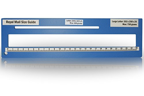 Royal Mail PPI Letter Size Guide Ruler Post Office Postal Price Postage. (Blue) from KSM Brand