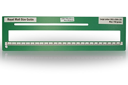 Royal Mail PPI Letter Size Guide Ruler Post Office Postal Price Postage. (Green) from KSM Brand