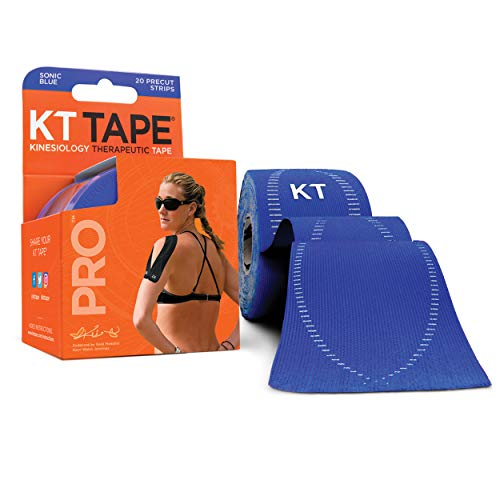 KT Tape PRO Pre-cut 20 Strip Synthetic Sonic Blue from KT tape