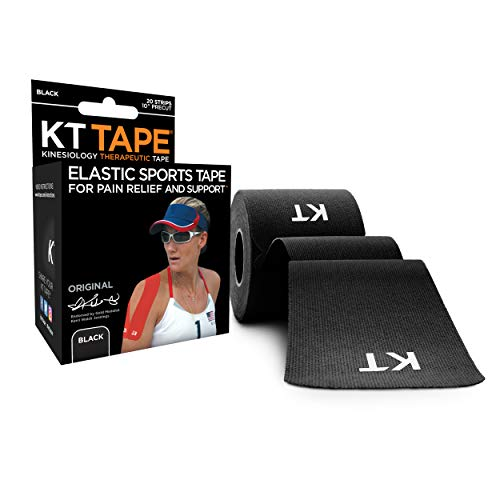 KT TAPE Original, Pre-cut, 20 Strip, Cotton, Black from KT Tape