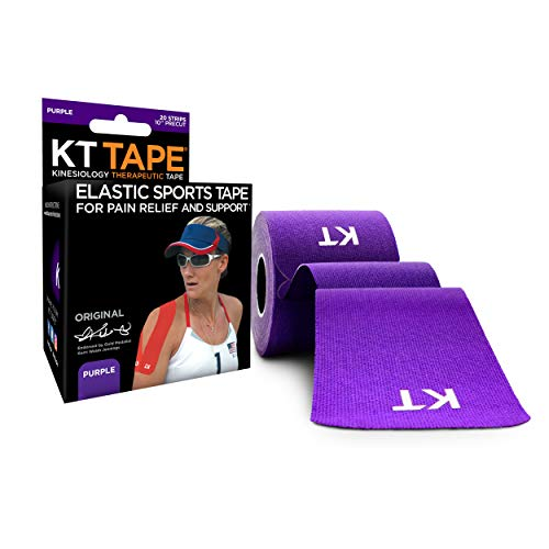 KT TAPE Original, Pre-cut, 20 Strip, Cotton, Purple from KT Tape