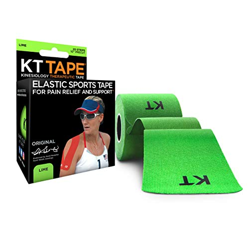 KT Tape Original 20 Strip Cotton Precut Kinesiology Tape, Green (Lime) from KT Tape