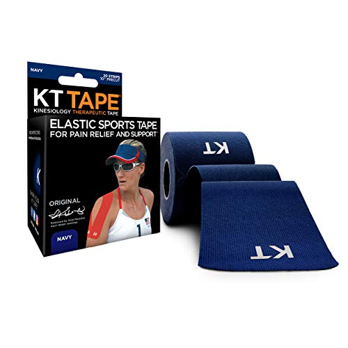 KT Tape Original 20 Strip Cotton Precut Kinesiology Tape, Blue (Navy Blue) from KT Tape