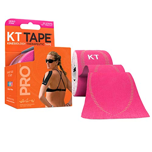 KT TAPE PRO, Pre-cut, 20 Strip, Synthetic, Hero Pink from KT Tape