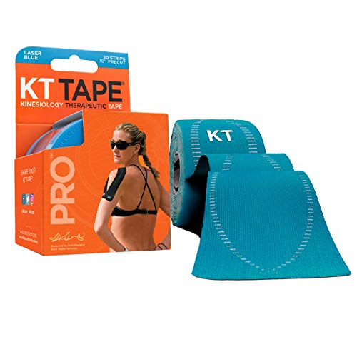 KT TAPE PRO, Pre-cut, 20 Strip, Synthetic, Laser Blue from KT Tape