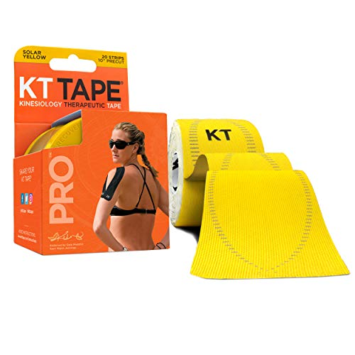 KT TAPE PRO, Pre-cut, 20 Strip, Synthetic, Solar Yellow from KT Tape