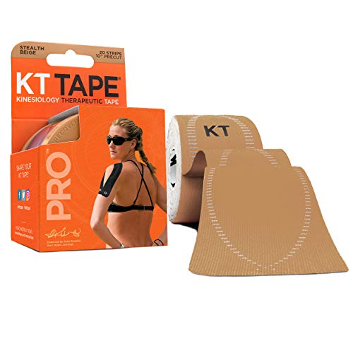 KT TAPE PRO, Pre-cut, 20 Strip, Synthetic, Stealth Beige from KT Tape