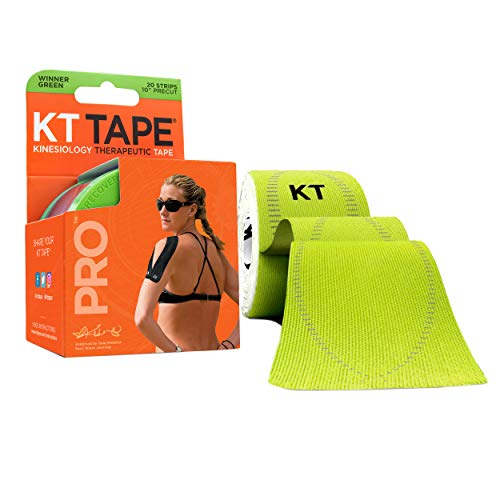 KT TAPE PRO, Pre-cut, 20 Strip, Synthetic, Winner Green from KT Tape