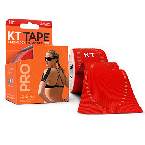 KT Tape PRO Pre-cut 20 Strip Synthetic Rage Red from KT Tape