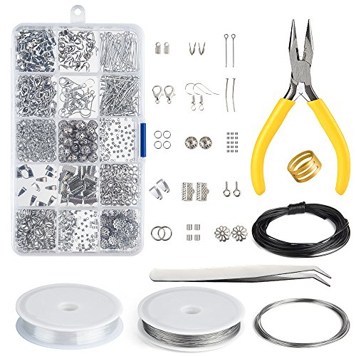 Kuuqa Jewelry Making Kit Jewelry Findings Starter Kit Jewelry Beading Making and Repair Tools Kit from KUUQA