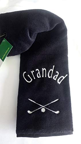 Personalised Deluxe Grandad Golf Towel from KW GOLF