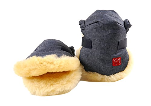 Kaiser Twoolly Handmuff With Sheepskin (Navy Melange, 6573472) from Kaiser