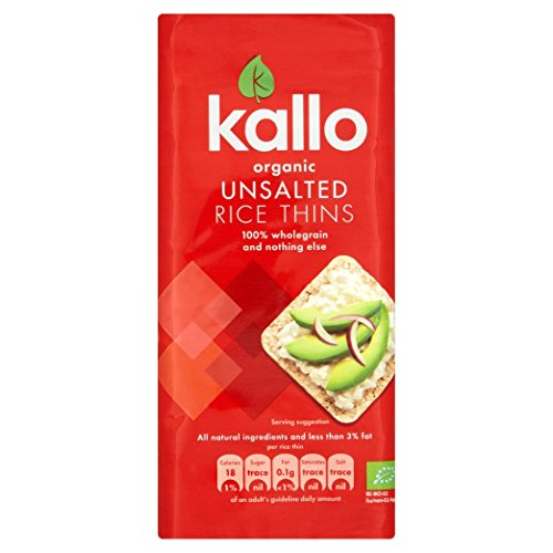 (6 PACK) - Kallo - Thin Rice Cakes No Added Salt | 130g | 6 PACK BUNDLE from Kallo
