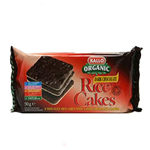 Kallo | Thin Slice Rice Cake Dark Choc | 8 x 90g from Kallo
