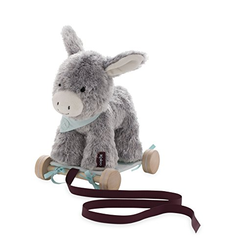 Kaloo Les Amis 2-in-1 Pull Along Plush Animal, Régliss' Donkey from Kaloo