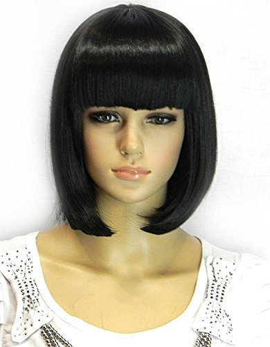 Kalyss Women's Bob Short wig Black Color Heat Resist Cospaly party Hair Wig from Kalyss