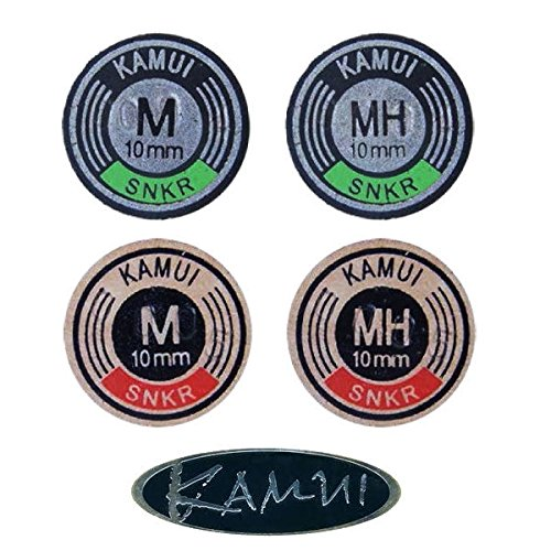 Kamui BLACK SNOOKER TIP AVAILABLE IN VARIOUS SIZES AND DENSITIES S2026** (10mm, MEDIUM) from KAMUI