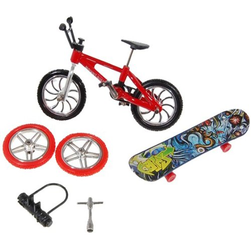 Toy Set Finger Bike & Board Skateboard With Skate Accessories Set from Kandy