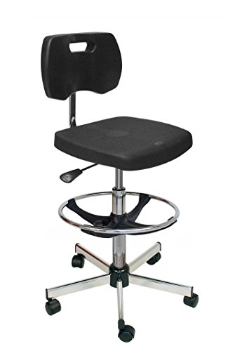 Kango 7NG35GHLR02905 Adjustable Chair, Chrome 5-Branch Reinforced Base with Heavy-Duty Castors from Kango