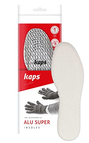 Kaps Alu Super, thermal and insulating triple layer shoe insoles for winter, made in Europe, all sizes, cut to fit from Kaps