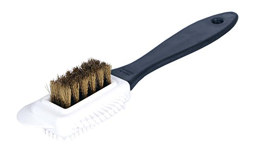 Kaps Quality Nubuck and Suede Multifunctional 4-Sided Cleaning Shoe Brush, Brass Bristle, Cleans and Gives Perfect Nap from Kaps