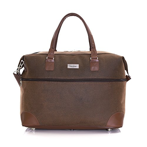 b316409e9bfd Karabar Berwyn Leather Style Travel Carry On Cabin Hand Luggage Weekend Bag  55 cm 800 Grams