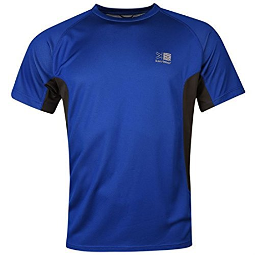 Karrimor Mens Aspen Technical T Shirt Short Sleeves Tee Top Surf Blue/Char M from Karrimor