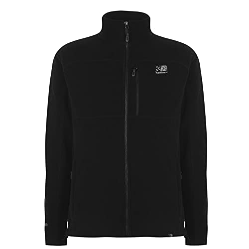 Karrimor Mens Fleece Jacket Coat Top Zip Winter Black XXL from Karrimor
