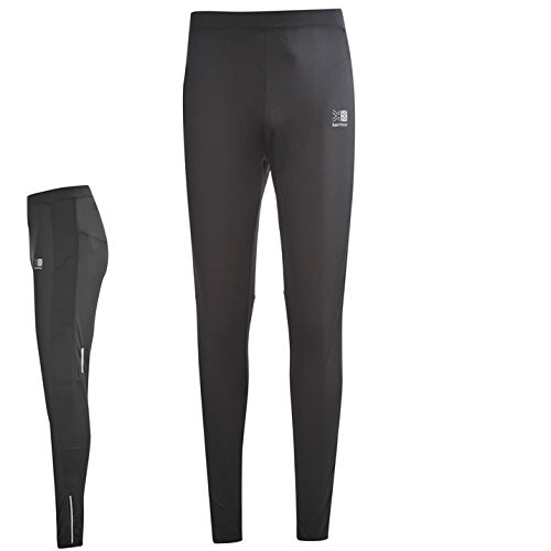 Karrimor Mens Run Tights Performance Pants Trousers Bottoms Zip Mesh Drawstring Black S from Karrimor