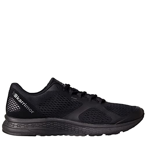 Karrimor Mens Tempo 5 Running Shoes Runners Lace Up Breathable Lightweight Mesh Black/Black UK 9 (43) from Karrimor