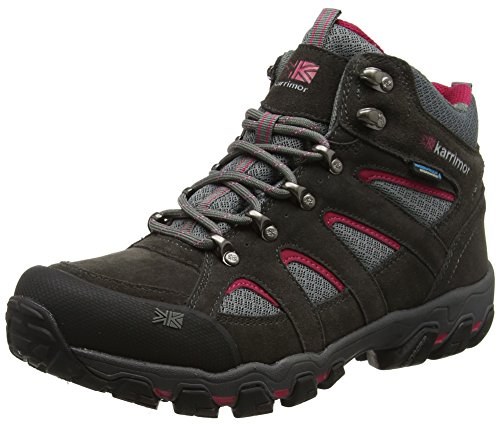 Bodmin Mid 5 Ladies weathertite Dark Grey/Cochineal,7 UK (41 EU) from Karrimor