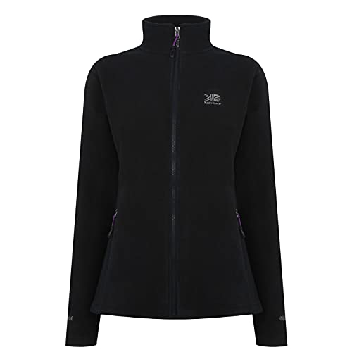 Karrimor Womens Fleece Jacket Coat Top Long Sleeve High Neck Zip Winter Warm Black 8 (XS) from Karrimor