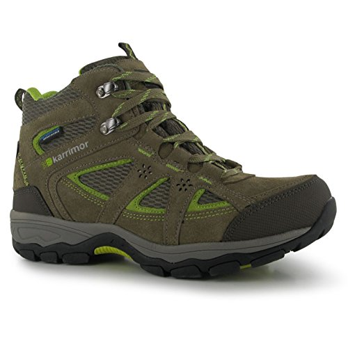 Karrimor Womens Mountain Mid Top Ladies Walking Boots Breathable Waterproof Taupe/Green 7 from Karrimor