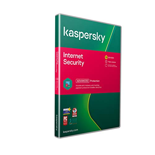 Kaspersky Internet Security 2019 | 10 Devices | 1 Year | PC/Mac/Android | Activation Code by Post from Kaspersky Lab