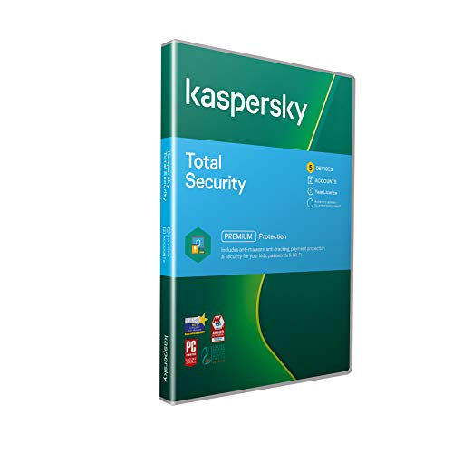 Kaspersky Total Security 2019 | 5 Devices | 1 Year | PC/Mac/Android | Activation Code by Post from Kaspersky Lab