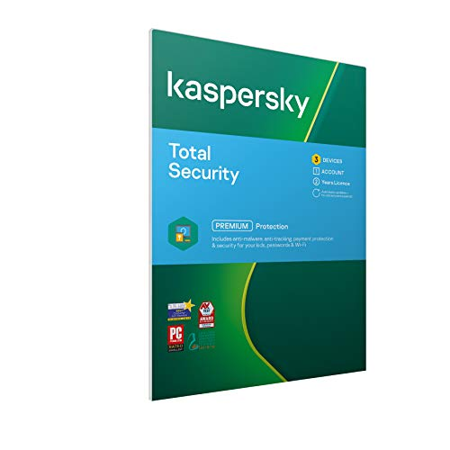 Kaspersky Total Security 2019 | 3 Devices | 2 Years | PC/Mac/Android | Activation Code by Post from Kaspersky Lab