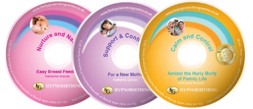 3 CD Postnatal Hypnobirthing Relaxation Collection, Support with your new baby from Katharine Graves