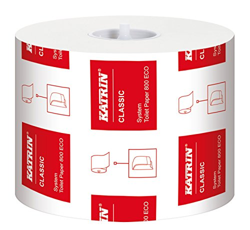 Katrin 103424 Classic System Toilet ECO paper, 100% recycled fibre (Pack of 36) from Katrin
