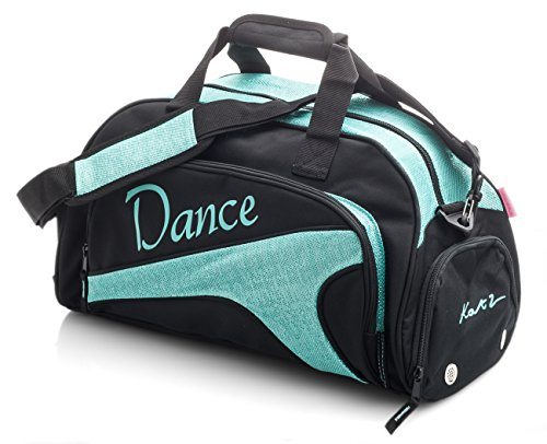 Girls Ladies Large Turquoise Dance Ballet Tap Kit Holdall Sports Bag KB76 Katz Dancewear from Katz Dancewear