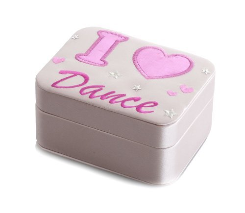 Girls Pink Satin Ballet I Love Dance Small Jewellery Box Gift present By Katz Dancewear JB-2266 Christmas Birthday Gift from Katz Dancewear