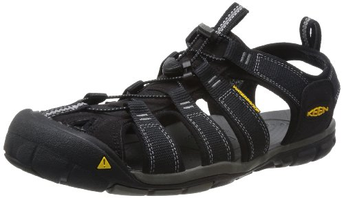 KEEN Men's Clearwater CNX Sandal, Black (Black /Gargoyle), 10 UK from Keen