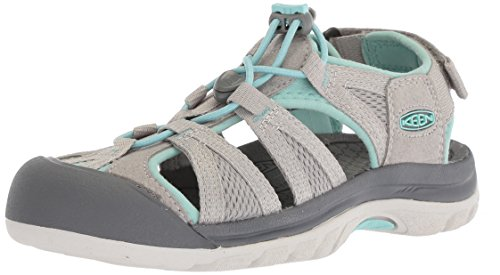 Keen Women's Venice II H2 Closed Toe Sandals, Grey Paloma/Pastel Turquoise, 4.5 UK 37.5 EU from Keen