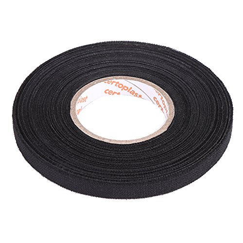 Car MultiPurpose Tape Automotive Wiring Harness Tape Black Waterproof Adhesive Anti Squeak Rattle Felt(9mm*25m) from Keenso