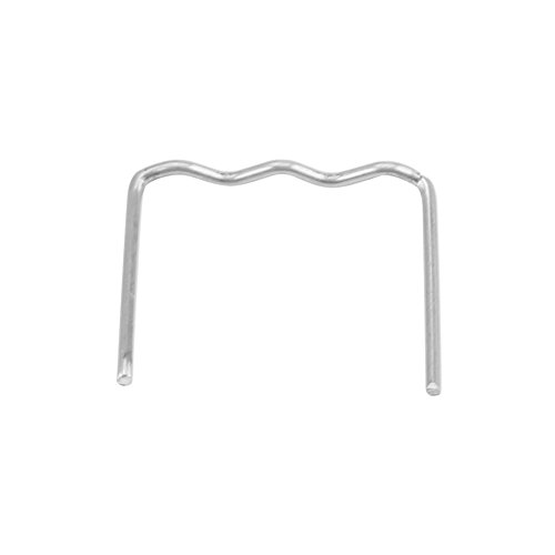 "Welding Staples, 100pcs 0.8mm Auto Bumper Repair Pre Cut Welding Staples Repair Tool Kit 3 Types Available(""S"" Style) from Keenso"